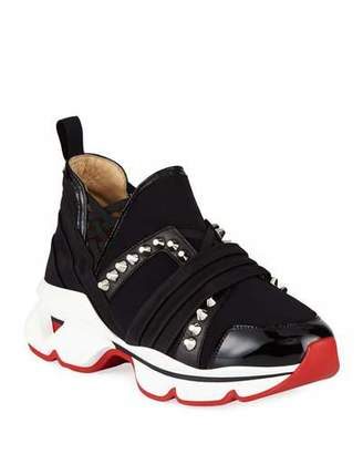 Christian Louboutin 123 Run Flat Red Sole Sneakers