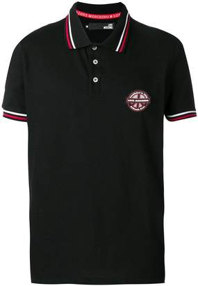 Love Moschino striped trim polo shirt