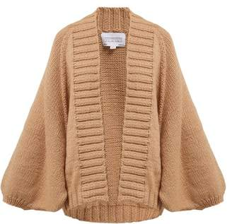BEIGE I Love Mr Mittens - Kamille Fisherman Wool Cardigan - Womens