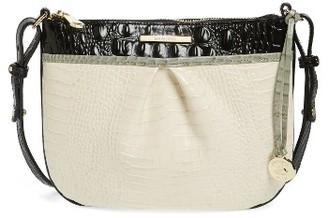 Brahmin Tara Embossed Leather Crossbody Bag - Ivory $195 thestylecure.com