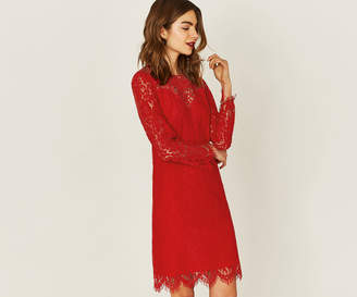 Oasis LONG TRIMMED LACE SHIFT