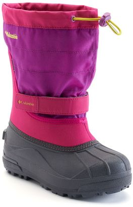 Columbia Powderbug Plus II Girls' Waterproof Winter Boots $50 thestylecure.com