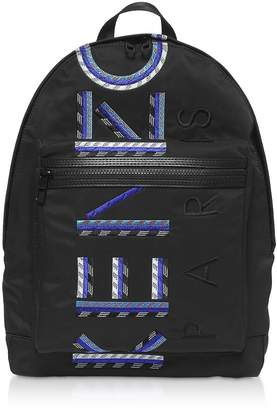 Kenzo Black Nylon Sport Cord Backpack