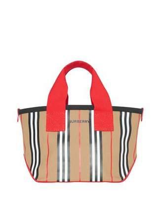 Burberry Kids' Icon Stripe Canvas Tote Bag