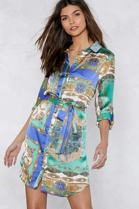 Nasty Gal You're the Better Scarf Shirt Dress