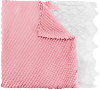 Valentino lace-paneled plissé scarf