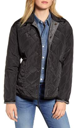 AVEC LES FILLES Reversible Quilted Water Resistant Barn Jacket