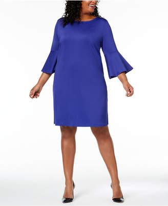 Kasper Plus Size Bell-Sleeve Dress