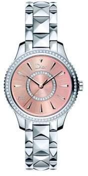 Christian Dior VIII Montaigne Diamond& Two-Tone Stainless Steel Automatic Bracelet Watch