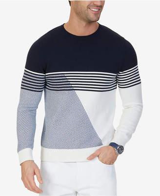 Nautica Men's Intarsia Knit Crew-Neck Sweater $128 thestylecure.com
