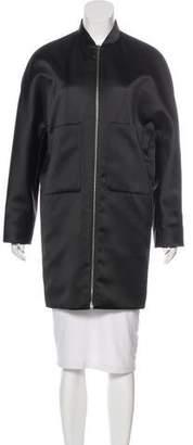 Balenciaga Satin Knee-Length Coat
