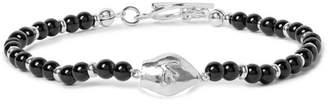 Isaia San Gennaro Silver-Tone And Onyx Bracelet