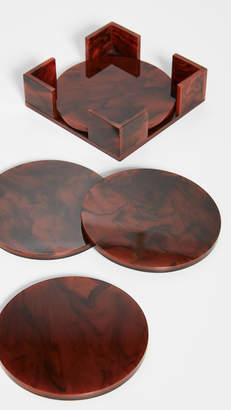 Edie Parker Solid Round Acrylic Coasters