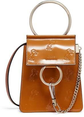 Chloé 'Faye' small horse embossed leather bracelet bag