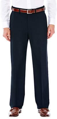 Haggar J.M. Premium Stretch Sharkskin Classic Fit Flat Front Dark Navy Suit Pant