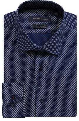 Tommy Hilfiger Graphic Stretch Slim-Fit Dress Shirt
