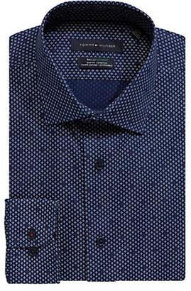 Tommy Hilfiger Graphic Stretch Slim-Fit Dress Shirt