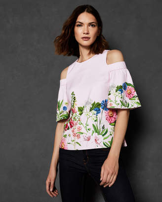 Ted Baker BEYAA FLORENCE CUT OUT SHOULDER TOP