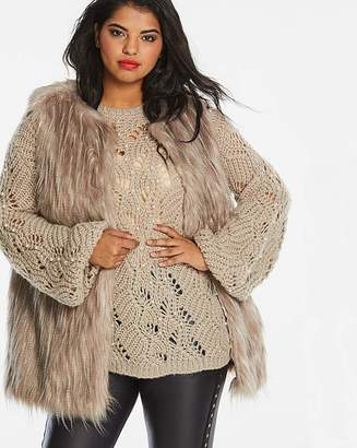 Fashion World Mink Faux Fur Gilet