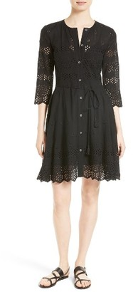 Women's Theory Kalsingas E Eyelet Shirtdress $475 thestylecure.com