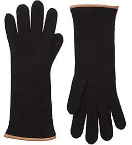 Barneys New York Women's Double-Knit Gloves - Black