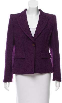 Armani Collezioni Peaked-Lapel Wool Blazer