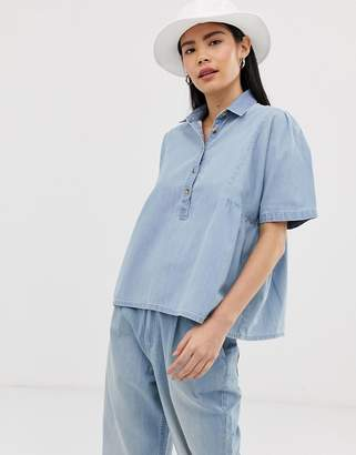 Mads Norgaard chambray shirt in organic cotton