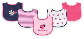 BabyVision® Luvable Friends® 5-Pack Lady Bug Bib Set in Pink $8.99 thestylecure.com