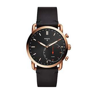 Fossil Q Men's Hybrid Smartwatch Stainless Steel Analog-Quartz Watch with Leather Strap