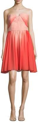 Halston Women's Pleated Chiffon Dress