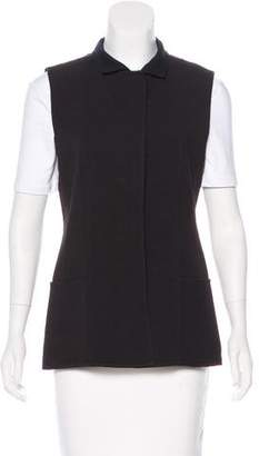 Akris Wool Notch-Lapel Vest