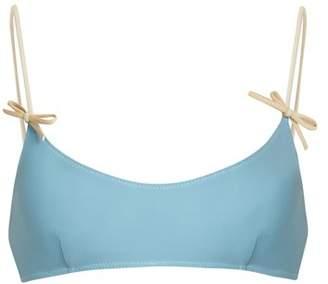 Roxana Salehoun - Bikini Top - Womens - Light Blue
