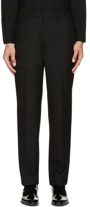 Lemaire Black Suit Trousers $565 thestylecure.com