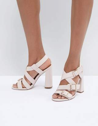 Asos DESIGN Hamilton Multi Strap Block Heeled Sandals