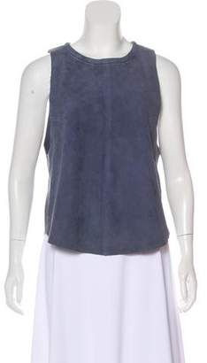 Veda Suede Sleeveless Top