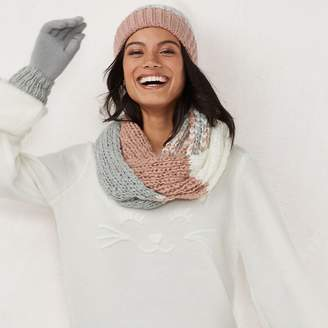 Lauren Conrad Women's Colorblock Knit Infinity Scarf