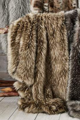 Next Tipped Faux Fur Throw - Natural