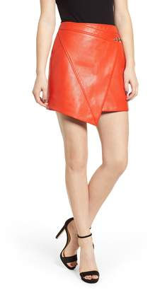 Blank NYC BLANKNYC Asymmetrical Latch Detail Vegan Leather Miniskirt