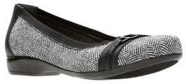 Clarks Collection By Kinzie Light Tweed Ballet Flats