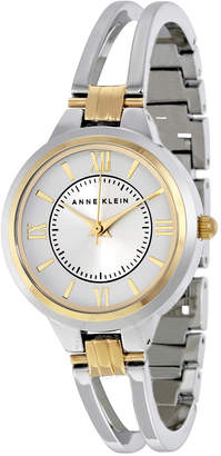 Anne Klein Silver Dial Stainless Steel Bangle Ladies Watch