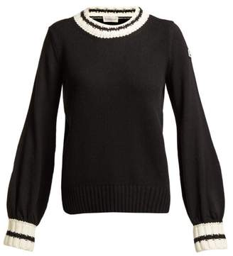 Moncler Wool And Cashmere Blend Sweater - Womens - Black