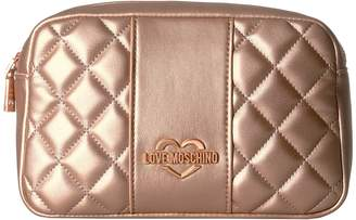 Love Moschino Quilted Metallic Fannypack Bags