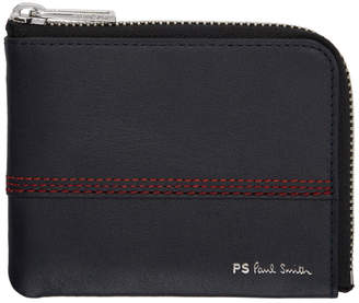 Paul Smith Navy Red Stitching Wallet