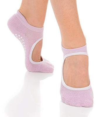 Isabella Collection Great Soles Grip Socks for Women - Non Slip Yoga Socks for Pilates, Barre, Ballet