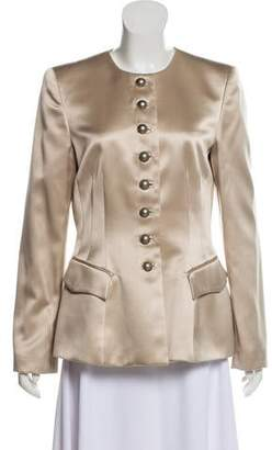Giorgio Armani Fitted Silk-Blend Jacket