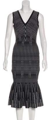Milly Flounce Hem Midi Dress