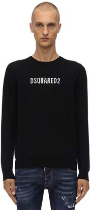 DSQUARED2 Logo Wool Jacquard Crewneck Sweater