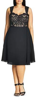 City Chic Plus Eyelash Evie Dress