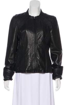 Tahari Lightweight Leather Jacket