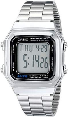 Casio Men's A178WA-1A Stainless-Steel Quartz Watch with Grey Dial